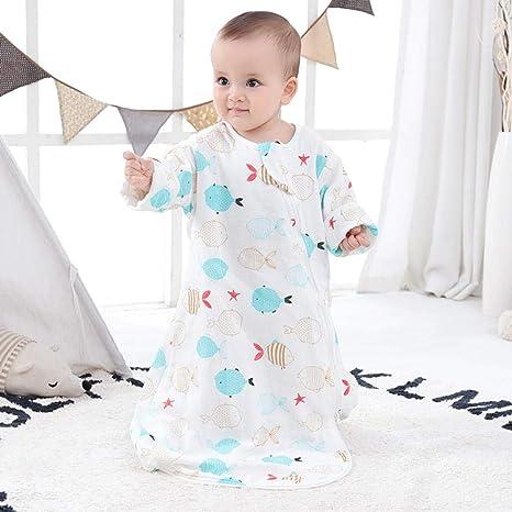 Saco de dormir Cocoon para bebés pijamas para niños pequeños algodón verano y otoño edredón antideslizante de doble uso 0.5Tog saco de dormir unisex de manga larga 0-1 años: Amazon.es: Bebé