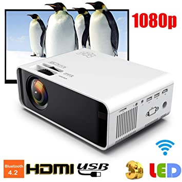Tosuny Proyector portátil, Proyector de Video Bluetooth HD de 3500 ...