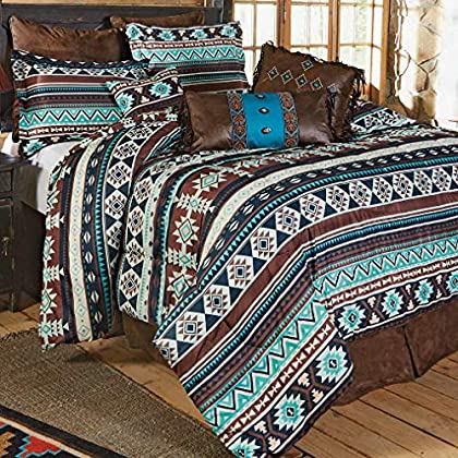 Image of BLACK FOREST DECOR Pecos River Bed Set - King Home and Kitchen
