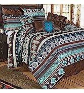 Black Forest Décor Pecos River Bed Set – Rustic King Size Comforter Set, 4 Pc