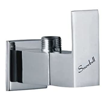 Snowbell Angle Cock Cubix Brass Chrome Plated