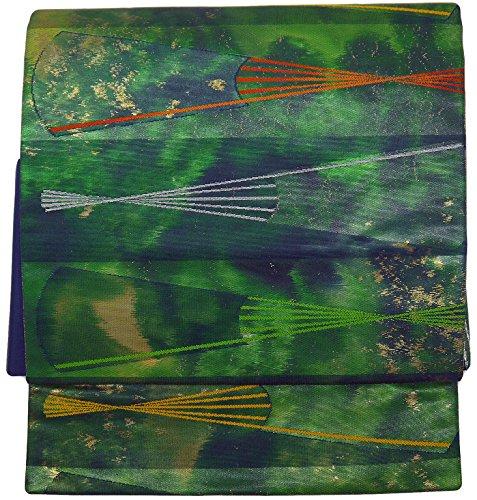 部入る鎮痛剤(桜楓) 和裁士が作った本格 二部式 正絹 作り帯 名古屋帯 つくり帯 軽装帯 ワンタッチ帯 LL 2L 3L 4L 5L 0022 tied obi divided into two