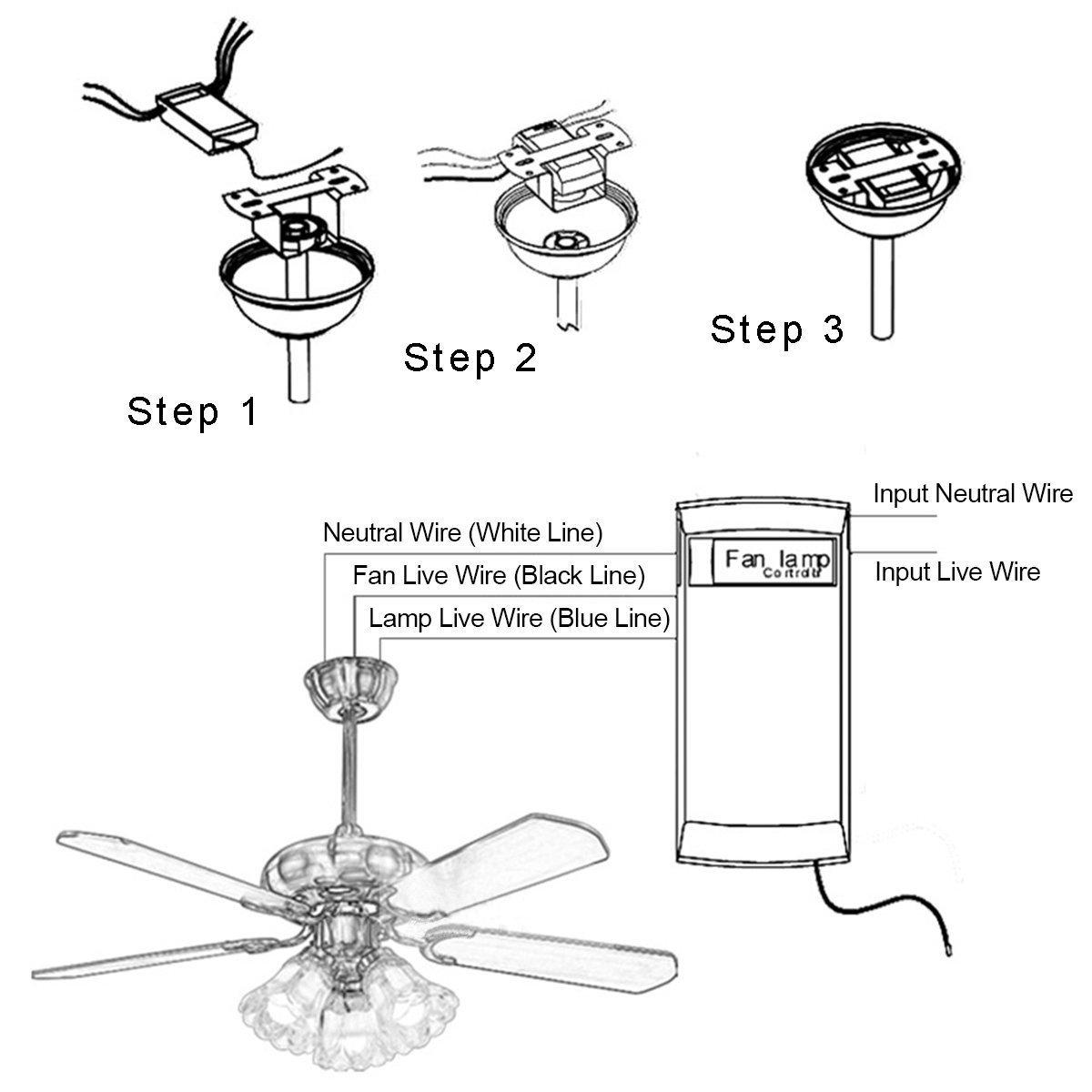Ceiling Fan Remote Control Replacement For Hampton Bay Harbor Breeze Wiring Diagram Hunter Kujce9103 2aazpfan 53t 11t