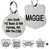GoTags Stainless Steel Pet ID Tags, Personalized Dog Tags and Cat Tags, up to 8 Lines of Custom…