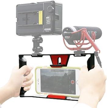 Ulanzi U Rig Pro Video Rig for iPhone Phone Stabilizer Rig w Triple Cold Shoe Mount,Phone Tripod Mount for iPhone 11 Pro Max XS Max X 8 7 6 plus OnePlus 7 Pro Samsung Google Pixel Vlogging Filmmaking