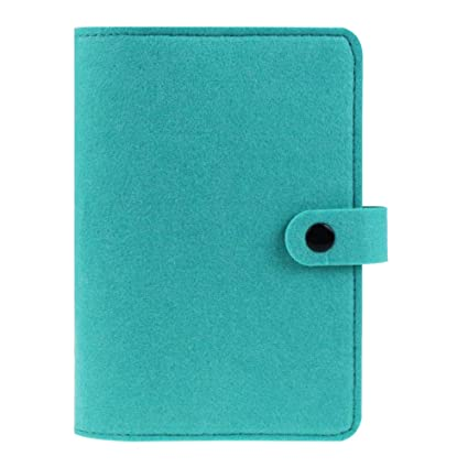 A6 Size Felt Binder,6 Ring Binder,Notebook Binder,Loose-Leaf Personal Organizer Agenda Planner Cover,Refillable Travel Journal,Travelers Journal Dairy ...