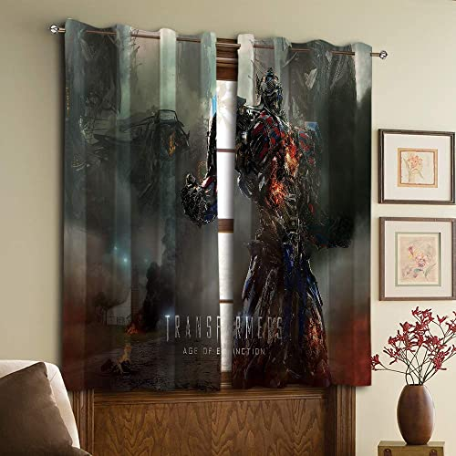 Deal of the week: Blackout Curtains Panels Transformers Age of Extinction Home Decor Blackout Curtains W72 x84 L