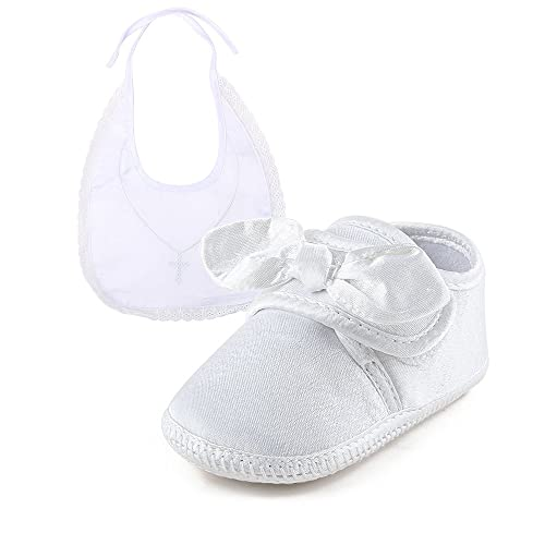 DELEBAO Baby Girl White Lace up