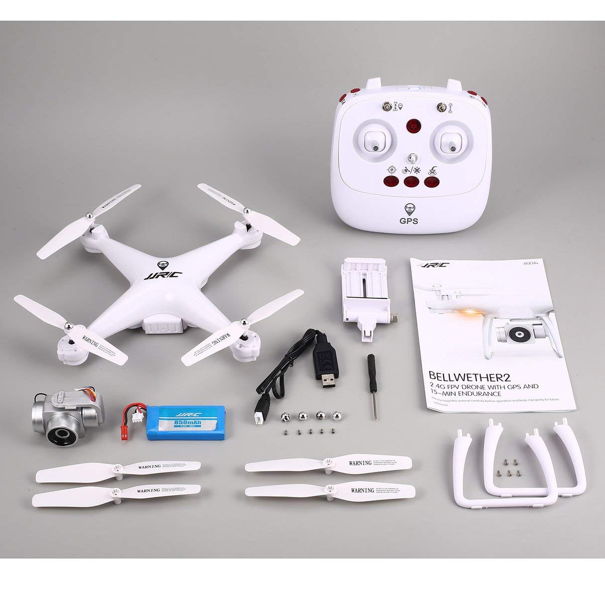 Wafalano RC Quadcopter, JJR/C H68G Selfie, posicionamiento GPS Dual RC Drone Quadcopter con 1080P WiFi FPV Cámara de ángulo Ancho Ajustable Sígueme