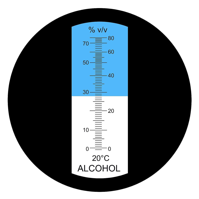 R/éfractom/ètre /à alcool avec ATC 0 ~ 80/% Gamme pour testeur de vinification Winemakers