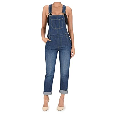 TwiinSisters Women's Basic Boyfriend Fit Denim Bib Overalls Plus: Clothing