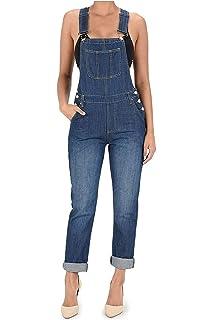4c73fbf8ea2d Amazon.com  WallFlower Plus Size Stretch Denim Overalls  Clothing