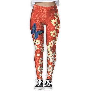 7571af058c Butterfly Flower Watercolor Drawing 3D Printing Yoga Leggings Pants Sport  Pilates Workout Skinny Pants