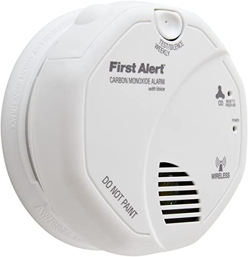 First Alert BRK CO511B Carbon Monoxide CO Detector Wireless Interconnected with Voice and Location
