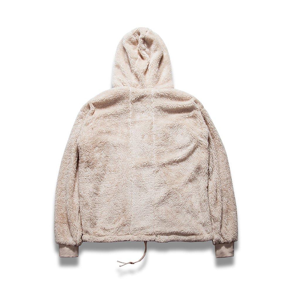 59a80a04656a1 HANGJIA Streetwear Hip-hop Oversized Half Zipper Pullover Fleece Sherpa  Hoodies Men