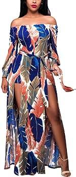 Simayixx Womens Summer Sleeveless Loose Maxi Dress Casual Boho Printed Beach Vacation Long Dresses Sundress