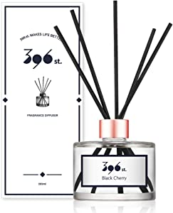 396 st. Reed Diffuser, Black Cherry, 200ml(6.7oz) / Reed Diffuser Sets, Aroma Therapy, Home & Kitchen Décor