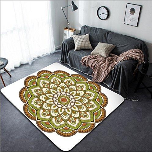 Vanfan Design Home Decorative 440172697 Flower Mandalas Vintage decorative elements Oriental pattern illustration Islam Arabic Indian turkish pakistan chinese ottoman motifs Modern Non-Slip (Bigfoot Ottoman)