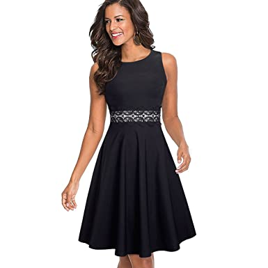 Elegant Embroidery Floral Lace Patchwork Vestidos A-Line Pinup Business Women