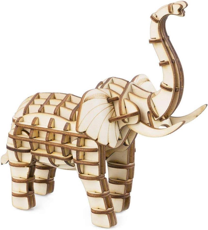ZYX 3D Rompecabezas de Madera-DIY Hecho a Mano Animal Pack ...
