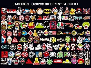 motociclette Neuleben Sticker Pack 100-Pcs Adesivi Stickers Vinili per Computer Portatile Bambini autoadesivi paraurti Hippie Decals Bomba Impermeabile Automobili Bicicletta