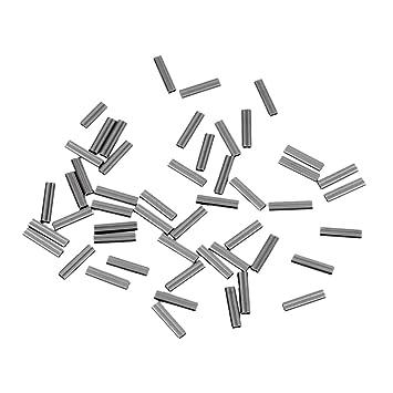 Sharplace 100pcs Fishing Wire Single Barrel Crimp Sleeves Durable R/ésistant
