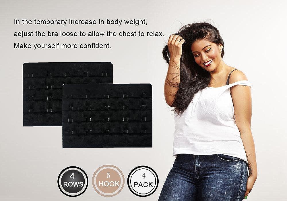 Women's Bra Extenders 5 Hook for Plus Size Bras Extenders Bra Strap Extensions 8005-4R5H3B
