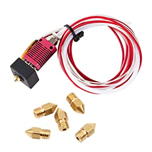 Creality Original 3D Printer Extruder Assembled MK8 Hot End Sprinkler Kit for Ender 3 / Ender 3 Pro with Aluminum Heating Block, 1.75mm, 0.4mm Nozzle