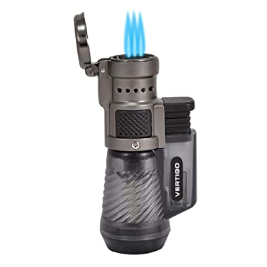 Vertigo by Lotus Cyclone Triple Torch Cigar Lighter Charcoal 2 Pack