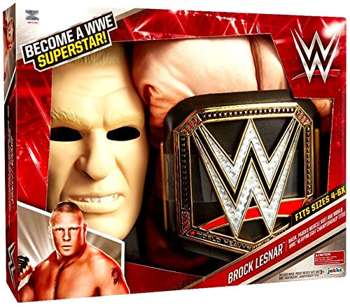 WWE Brock Lesnar Deluxe Muscle Suit with Championship Title Belt by WWE