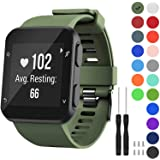 GVFM Band Compatible with Garmin Forerunner 35, Soft Silicone Replacement Watch Band Strap for Garmin Forerunner 35…
