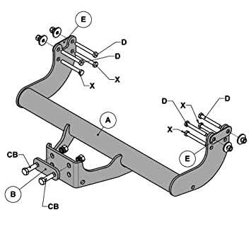 Witter F163 Fixed Flange Neck Tow Bar