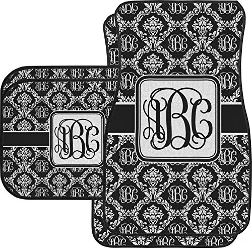 (RNK Shops Monogrammed Damask Car Floor Mats Set - 2 Front & 2 Back)