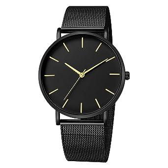 BBestseller Moda Reloj para Hombre - Correa de Aleación Ultra-Delgado Impermeable Deportivos Relojes de Pulsera Correa de Malla (Negro 3): Amazon.es: ...