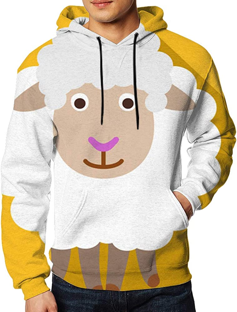 Sheep Flat Agriculture Hoodie Sweatshirt Classic for Men