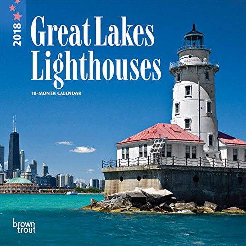Lighthouses, Great Lakes 2018 7 x 7 Inch Monthly Mini Wall Calendar, USA United States of America Ocean Sea Coast