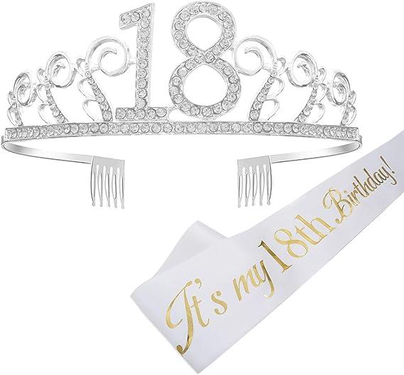 Reyok Couronne Joyeux Anniversaire 18èmebirthday Girl Sash