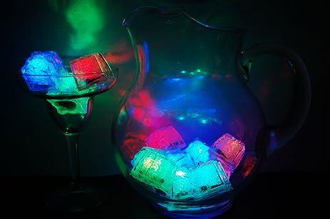 set of 12 litecubes brand 8 mode multicolor rainbow light up led ice cubes