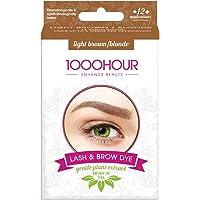 1000 HOUR 1000HOUR Plant Based Lash & Brow Dye Kit - Light Brown,