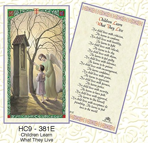 (Children Learn What They Live Laminated Prayer Cards - Pack of 25 - HC9-381E)