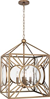 product image for Robert Abbey 1420 Fineas - Four Light Pendant, Aged Brass Finish with Clear Seeded Glass