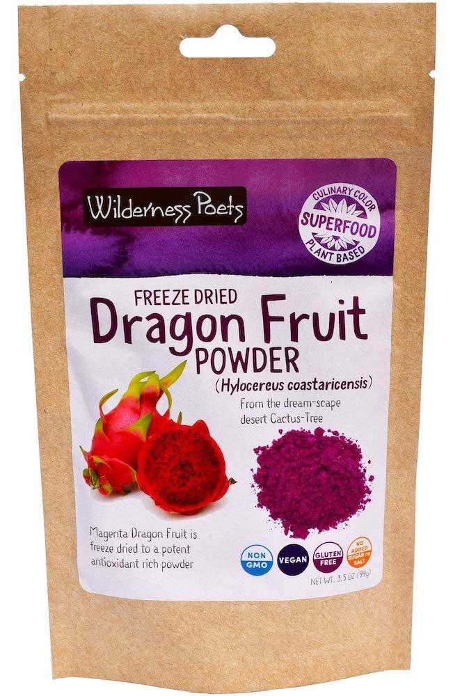 Wilderness Poets Freeze Dried Dragon Fruit Powder - Pitahaya Powder (3.5 Ounce)