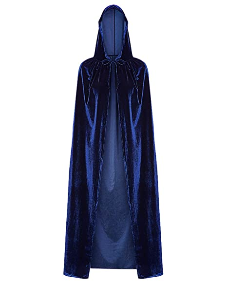 Amazon.com  KENANCY Hooded Cloak Long Velvet Cape for Christmas Halloween  Costume Cosplay Party  Clothing 06d895d0c