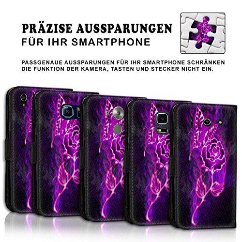 Wallet Book Style Flip Handy Tasche Case Schutz Hülle Schale Motiv Etui für Apple iPhone 6 Plus / 6S Plus - Design Flip MVD342