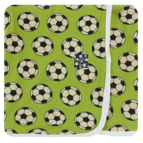 Kickee Pants Little Boys Print Swaddling Blanket - Meadow Soccer, One Size
