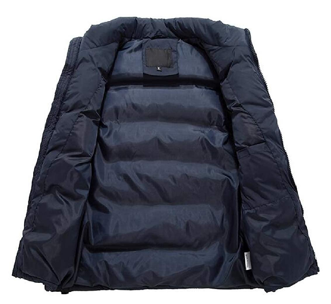 Jaycargogo Mens Winter Sleeveless Packable Puffer Coat Down Jacket Vest
