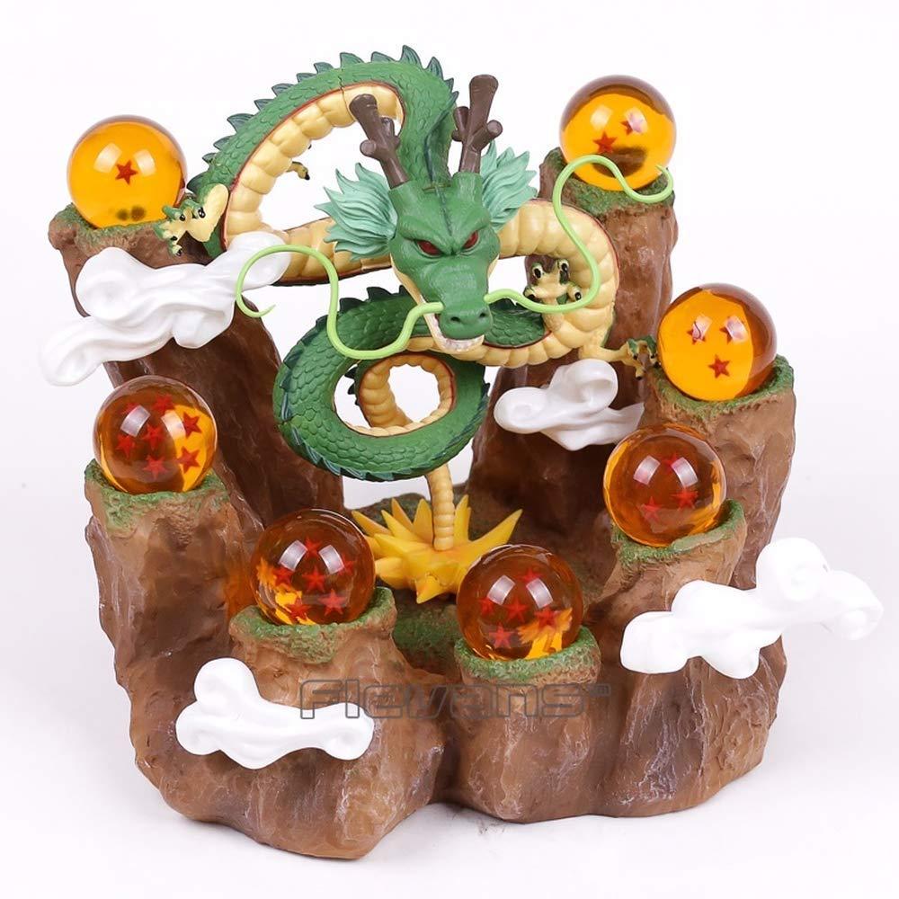 Dragon Ball Z The Dragon Shenron + Tree Stump Stand + 7 Crystal Balls PVC Figures Collectible Model Toys