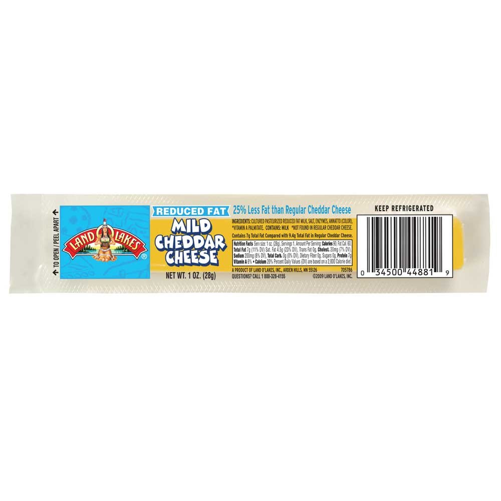Land O Lakes Reduced Fat Mild Cheddar Cheese Stick, 1 Ounce - 168 per case. by Land O Lakes