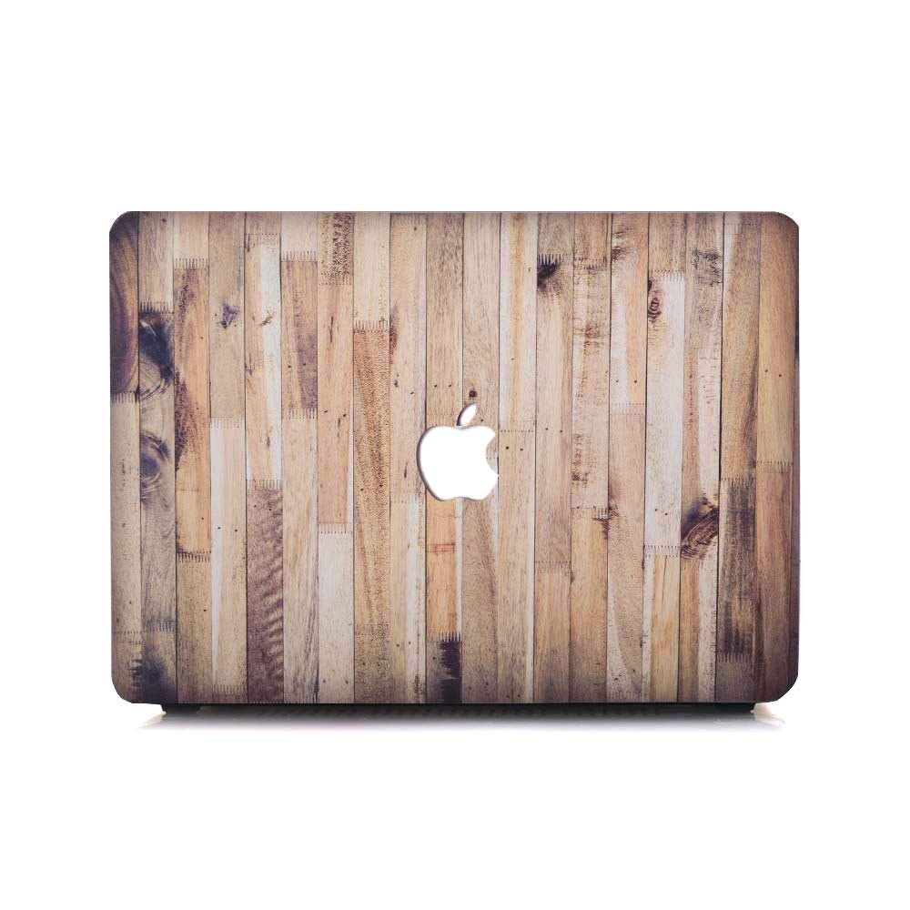 MacBook Pro 13 inch Case 2018 2017 2016 Release A1706/A1708 Case Laptop Plastic Hard Shell Cover Wood Pattern Compatible New 13 inch MacBook Pro case Without Touch Bar