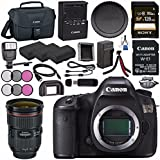Canon EOS 5DS 5D S DSLR Camera + Canon EF 24-70mm f/2.8L II USM Lens 5175B002 + LPE-6 Lithium Ion Battery + External Rapid Charger + Sony 128GB SDXC Card Bundle